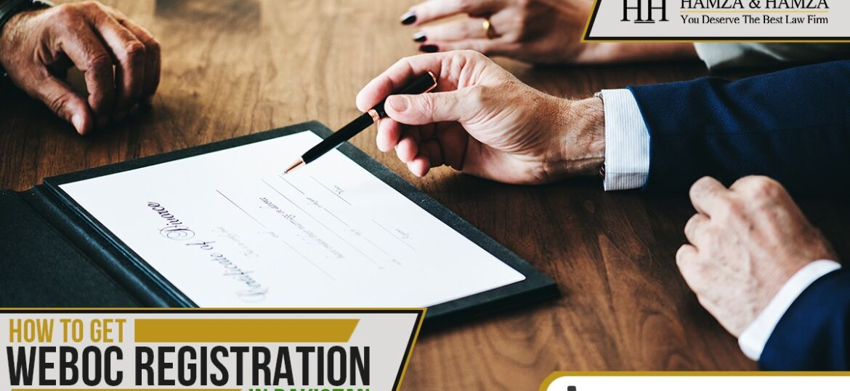 How to Get Weboc Registration In Pakistan ?